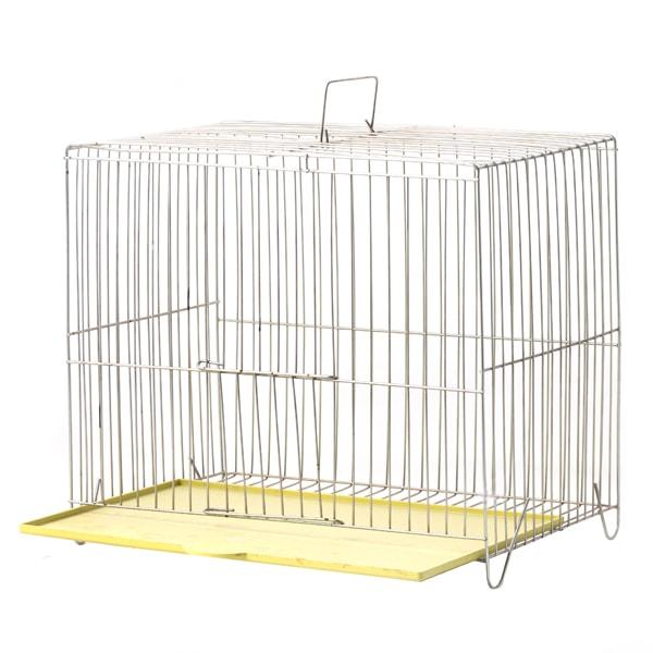 قفس پرنده مدل بازاری سایز کوچک با کفی زرد رنگ