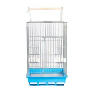 قفس تک درب طوطی سانان کد 1033 با کفی آبی رنگ