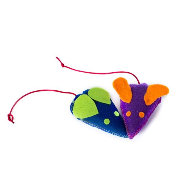 اسباب بازي گربه مدل موش تخت از جنس نمد کد CT110