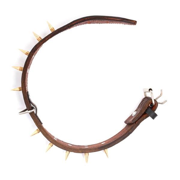 قلاده سگ مدل چرم گردنی دو لایه 4.5 سانتی متر
