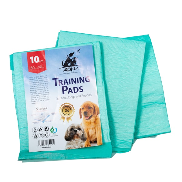 پد ادرار سگ و گربه سایز 60.90 بسته 10 عددی با قدرت جذب بالا جنس رویه سلولزی و زیرین پلاستیک