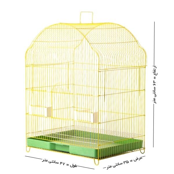 قفس پرنده تاشو مدل سه خم سایز بزرگ