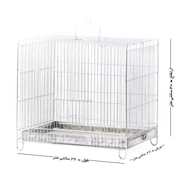 قفس پرنده غلامی سایز 2 مخصوص پرندگان ریز جثه