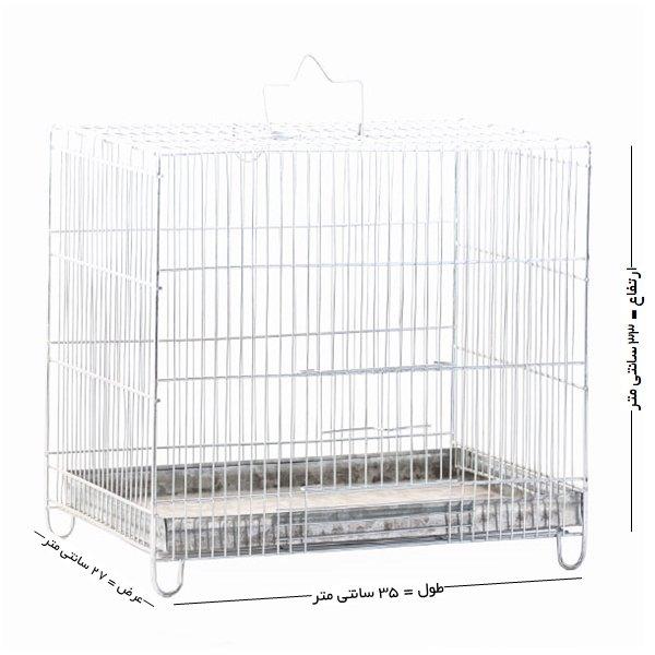 قفس پرنده غلامی سایز 3 مخصوص پرندگان ریز جثه