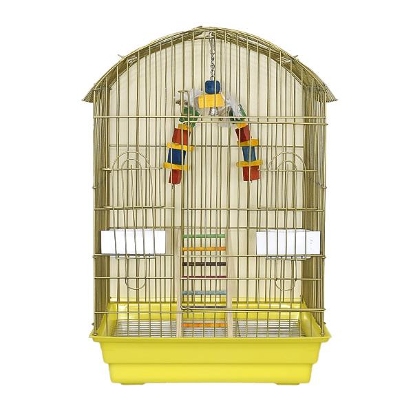 قفس پرنده مدل گرد رنگ طلایی 1035 برند میگ میگ پت