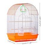قفس فانتزی,قفس فانتزی پرنده,قفس فانتزی گرد رنگ نارنجی
