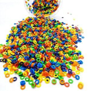 حلقه رینگی پرنده سیلیکونی رنگارنگ