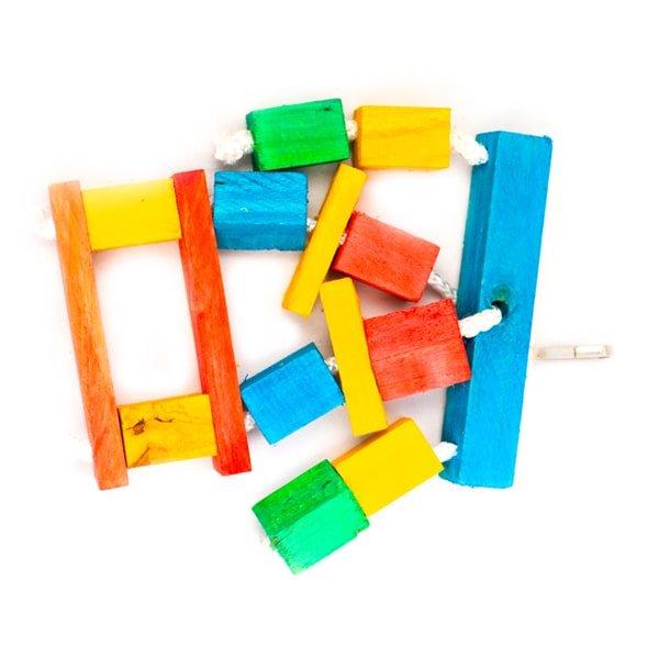 اسباب بازی طوطی کد BA102 برند میگ میگ پت چوبی رنگارنگ