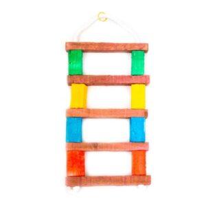 اسباب بازی پرنده کد BA105 برند میگ میگ پت نردبان چوبی رنگارنگ
