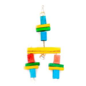 اسباب بازی طوطی کد BA101 رنگارنگ چوبی