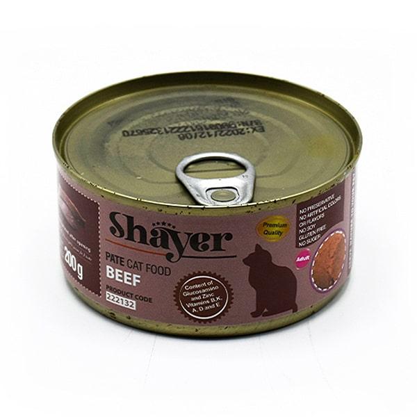 کنسرو گربه شایر حاوی گوشت قرمز 200 گرمی کد 222132