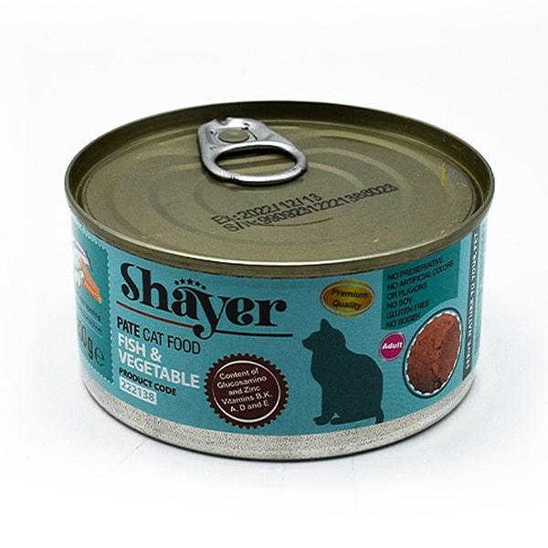 کنسرو گربه شایر حاوی ماهی و سبزیجات 200 گرمی کد 222138
