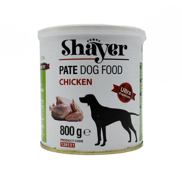 کنسرو سگ شایر حاوی مرغ 800 گرمی کد 128131