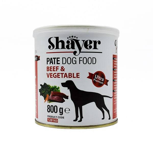 کنسرو سگ شایر گوشت قرمز و سبزیجات 800 گرمی