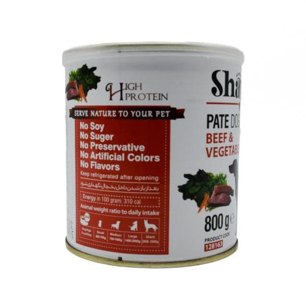 کنسرو سگ شایر گوشت قرمز و سبزیجات 800 گرمی کد 128163