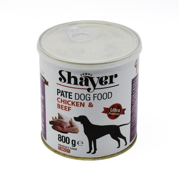 کنسرو سگ شایر حاوی مرغ و گوشت قرمز 800گرمی کد128221
