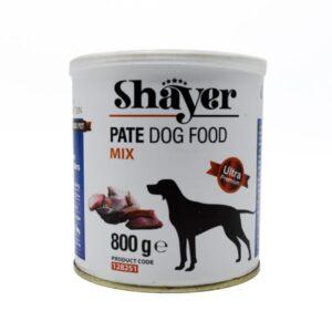 کنسرو سگ شایر میکس انواع گوشت 800 گرمی گوشت مرغ و ماهی و بوقلمون