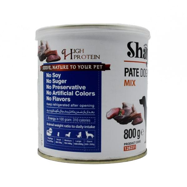کنسرو سگ شایر میکس انواع گوشت 800 گرمی کد 128251