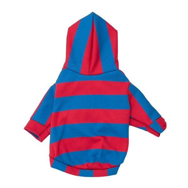 لباس سگ رنگ قرمز و آبی خط دار کد Da102 برند میگ میگ پت