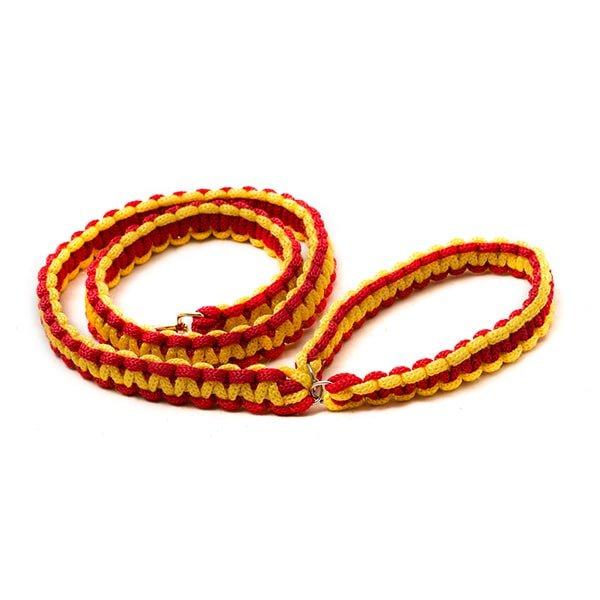 بند قلاده سگ 1 متری کد Da020 برند میگ میگ پت قرمز و زرد