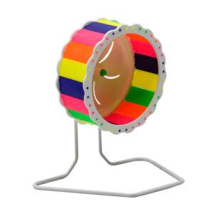 چرخ فلک همستر مدل ثابت بیرون از قفس کد RA020 رنگارنگ