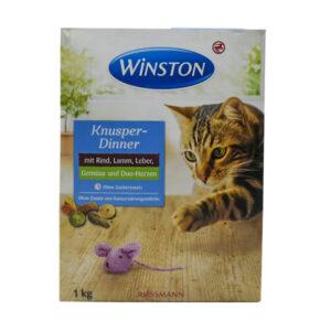 غذای خشک گربه برند وینستون کدCF300 d یک کیلوگرمی